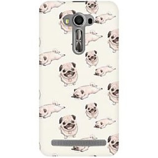 RAYITE Pug Pattern Premium Printed Mobile Back Case Cover For Asus Zenfone 2 Laser ZE500ML