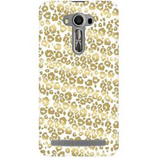 RAYITE Golden Cheetah Pattern Premium Printed Mobile Back Case Cover For Asus Zenfone 2 Laser ZE500ML