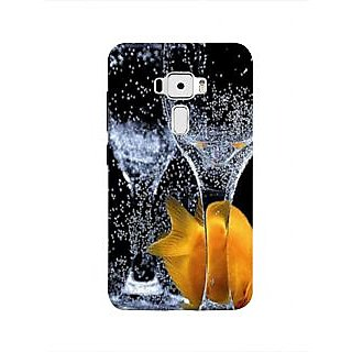 Print Masti Classic Yellow Stone 3D Design Back Cover For Asus Zenfone 3 ZE552KL (5 Inches)