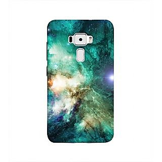 Print Masti Wild Face Of Tiger Reflecting Jesus Cross Design Back Cover For Asus Zenfone 3 ZE552KL (5 Inches)