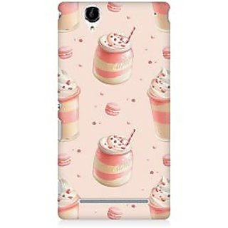 RAYITE Pink Ice Cream Premium Printed Mobile Back Case Cover For Sony Xperia T2