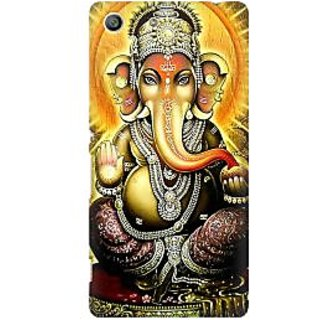 RAYITE Lord Ganesha Premium Printed Mobile Back Case Cover For Sony Xperia M5