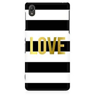 RAYITE Love Abstract Premium Printed Mobile Back Case Cover For Sony Xperia Z2 L50W