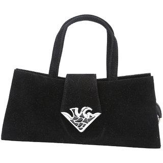 Azores Black Velvet handbag.
