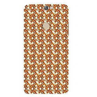 Print Masti Lovely Orange Ethnic Orange Print Design Back Cover For Coolpad Max A8