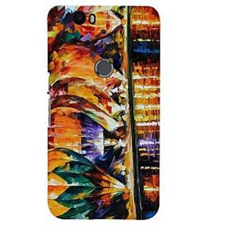 Print Masti Beautiful Colorfull Modern Art Design Back Cover For Huawei Nexus 6P :: Huawei Google Nexus 6P