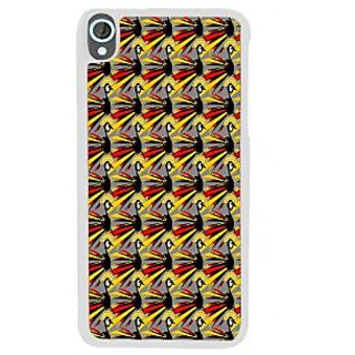 Ifasho Animated Pattern Peacock Back Case Cover For HTC Desire 820