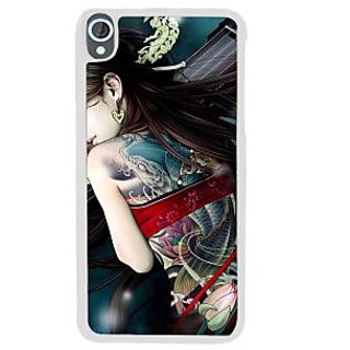 Ifasho Tatoo Girl Back Case Cover For HTC Desire 820