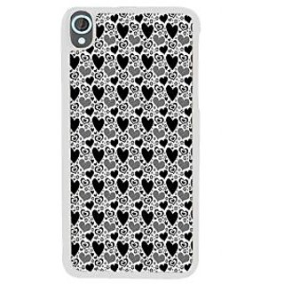 Ifasho Modern Art Design Pattern With Lot Of Small Heart Back Case Cover For HTC Desire 820