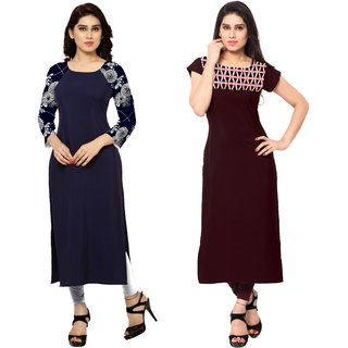 Ziyaa Combo Of Two Digital Print Kurtis
