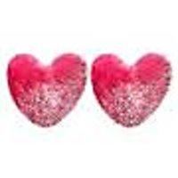 HomeSazawat  Heart Shape Cushion Pink- Set Of 2