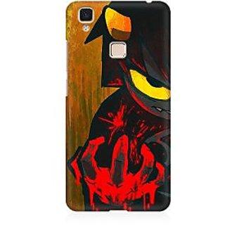 RAYITE Devil Art Premium Printed Mobile Back Case Cover For Vivo V3 Max