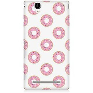 RAYITE Pink Donuts Premium Printed Mobile Back Case Cover For Sony Xperia T2