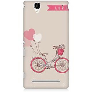RAYITE Love Bicycle Premium Printed Mobile Back Case Cover For Sony Xperia T2