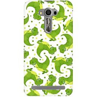 RAYITE Dinosaur Pattern Premium Printed Mobile Back Case Cover For Asus Zenfone 2 Laser ZE500ML
