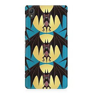RAYITE Bat Pattern Premium Printed Mobile Back Case Cover For Sony Xperia Z2 L50W