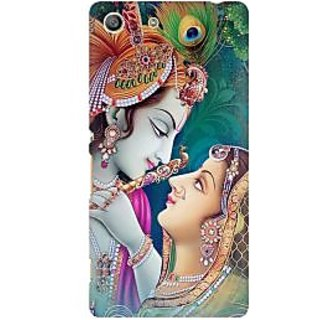 RAYITE Radha Krishna Premium Printed Mobile Back Case Cover For Sony Xperia M5