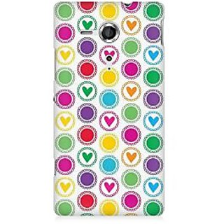 RAYITE Little Hearts Premium Printed Mobile Back Case Cover For Sony Xperia SP M35H