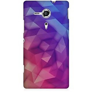 RAYITE 3D Geometric Art Premium Printed Mobile Back Case Cover For Sony Xperia SP M35H
