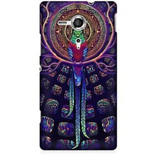 RAYITE Holy Parrot Premium Printed Mobile Back Case Cover For Sony Xperia SP M35H