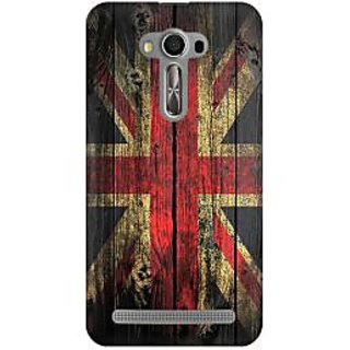 RAYITE UK Flag On Wood Premium Printed Mobile Back Case Cover For Asus Zenfone 2 Laser ZE500ML