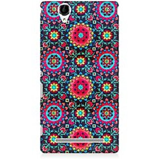 RAYITE Beautiful Mandala Pattern Premium Printed Mobile Back Case Cover For Sony Xperia T2