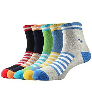 Arrow Mens Casual Ankle Length Cotton Socks Pack Of 5 Pair