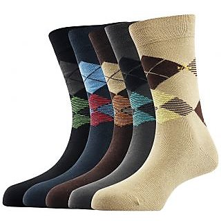 Arrow Mens Formal Short Calf Length Cotton Socks Pack Of 5 Pair