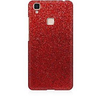 RAYITE Red Glitter Print Premium Printed Mobile Back Case Cover For Vivo V3 Max