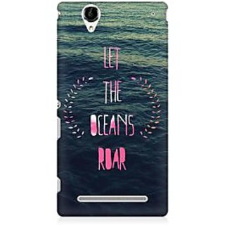 RAYITE Let The Ocean Roar Premium Printed Mobile Back Case Cover For Sony Xperia T2
