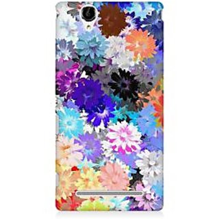 RAYITE Colourful Floral Premium Printed Mobile Back Case Cover For Sony Xperia T2