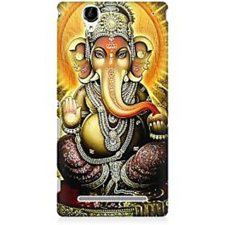 RAYITE Lord Ganesha Premium Printed Mobile Back Case Cover For Sony Xperia T2