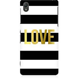 RAYITE Love Abstract Premium Printed Mobile Back Case Cover For Sony Xperia Z5