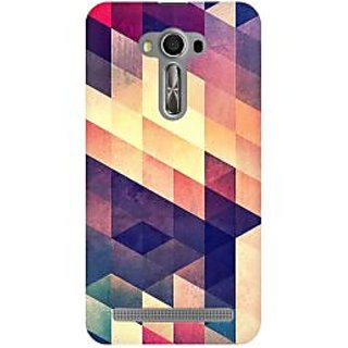 RAYITE Geometric Abstract Art Premium Printed Mobile Back Case Cover For Asus Zenfone 2 Laser ZE500ML