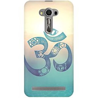 RAYITE Om Print Premium Printed Mobile Back Case Cover For Asus Zenfone 2 Laser ZE500ML