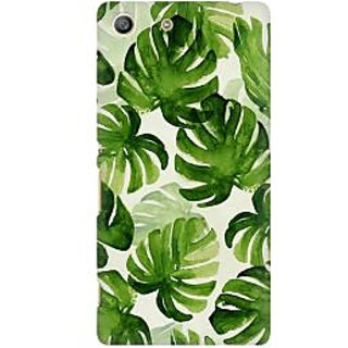 RAYITE Palm Leaf Premium Printed Mobile Back Case Cover For Sony Xperia M5