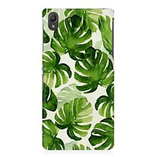RAYITE Palm Leaf Premium Printed Mobile Back Case Cover For Sony Xperia Z2 L50W
