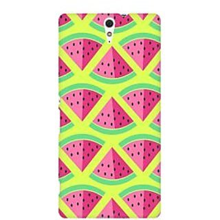 RAYITE 3D Watermelon Pattern Premium Printed Mobile Back Case Cover For Sony Xperia C5