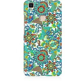RAYITE Green Mandala Premium Printed Mobile Back Case Cover For Vivo V3 Max