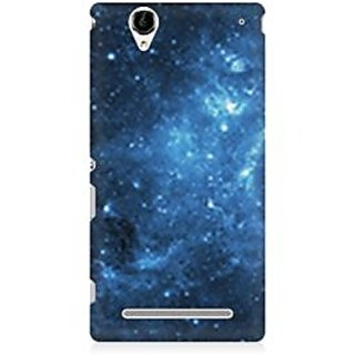 RAYITE Blue Galaxy Premium Printed Mobile Back Case Cover For Sony Xperia T2