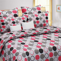 Sweet Home Jesper Dots Design 100% Cotton Double Bed Sheet With 2 Pillow Covers