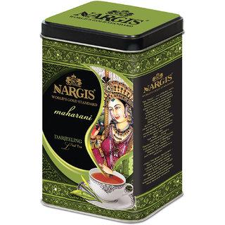 Nargis Premium Quality Indian Black Leaf Tea - Darjeeling In Metal Tin 200gms