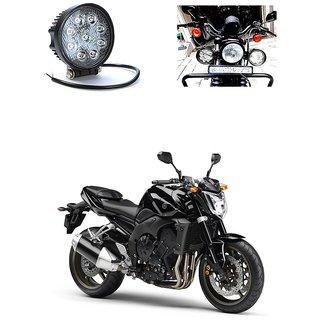 Ctn Round Shape 9 Led Bike Projector White Aux Light For Yamaha Fz