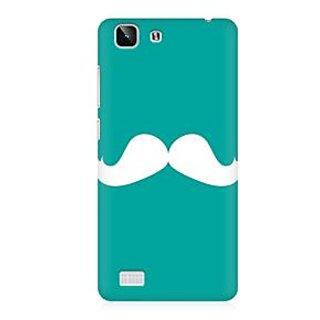 RAYITE Classic Mustache Premium Printed Mobile Back Case Cover For Vivo X5