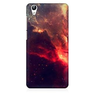 RAYITE Red Galaxy Premium Printed Mobile Back Case Cover For Vivo Y51L