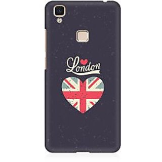 RAYITE London Love Premium Printed Mobile Back Case Cover For Vivo V3 Max