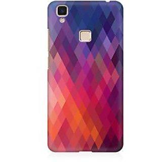 RAYITE Colourful Aztec Premium Printed Mobile Back Case Cover For Vivo V3 Max