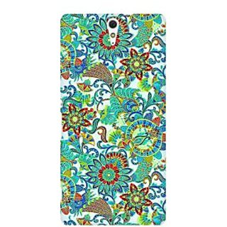 RAYITE Green Mandala Premium Printed Mobile Back Case Cover For Sony Xperia C5