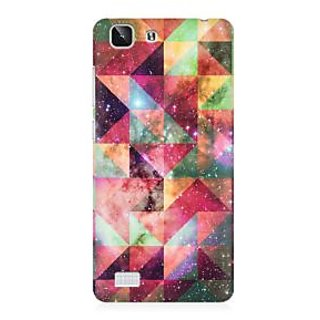 RAYITE Geometric Galaxy Art Premium Printed Mobile Back Case Cover For Vivo X5