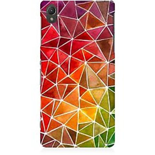 RAYITE Colourful Geometric Premium Printed Mobile Back Case Cover For Sony Xperia Z5